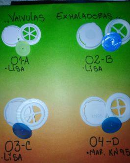 Valvulas de Exhalacion KN95 x 100